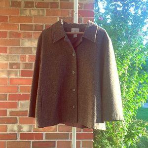 Nordstrom Brown Suit Jacket Tweedy